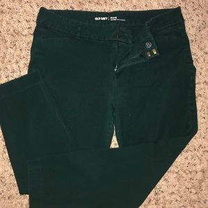 Green ankle slacks